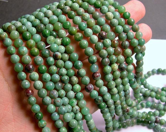 Australian Bloodstone - 6mm round beads -1 full strand - 67 beads - WHOLESALE DEAL - RFG303