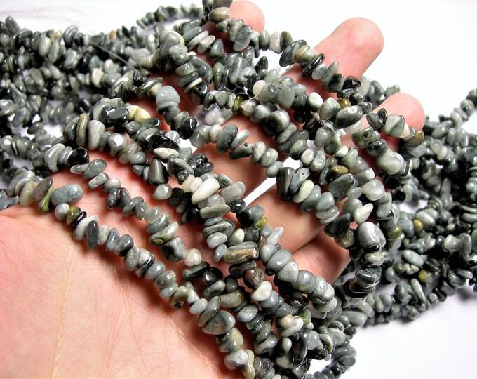 Cat eye - chip stone - pebble-  nugget - bead - 36 inch -full strand - Chrysoberyl Cat Eye Gemstone - PSC310