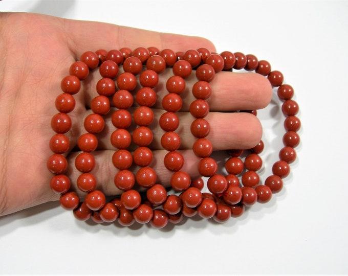 Red Jasper - 1 set - 8mm  - 23 beads - A quality - Red Jasper - HSG157