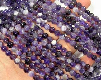 Amethyst - 6mm round - full strand - 64 beads - RFG1200