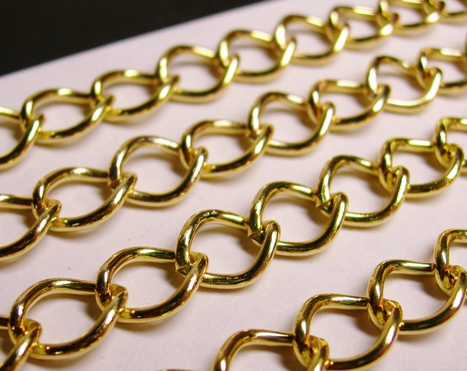 Gold chain - lead free nickel free won't tarnish .1 meter-3.3 feet made from aluminum