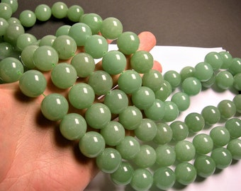 Aventurine - 18 mm round beads -1 full strand - 22 beads - AA quality - RFG1338