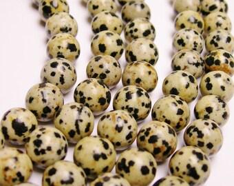Dalamtian jasper - 10 mm( 10.3mm)  - 39 beads - full strand - A quality - RFG1018