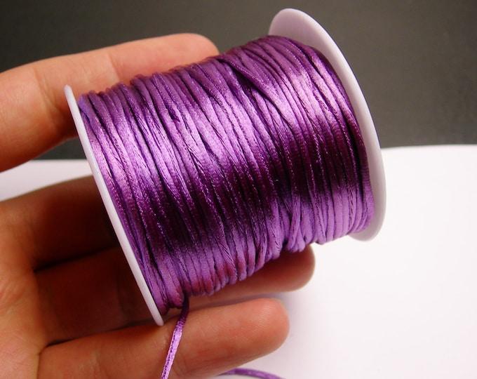 Satin Rattail Cord - knotting/beading cord -1.5mm - 65 meter - 213 foot - purple - SSC29