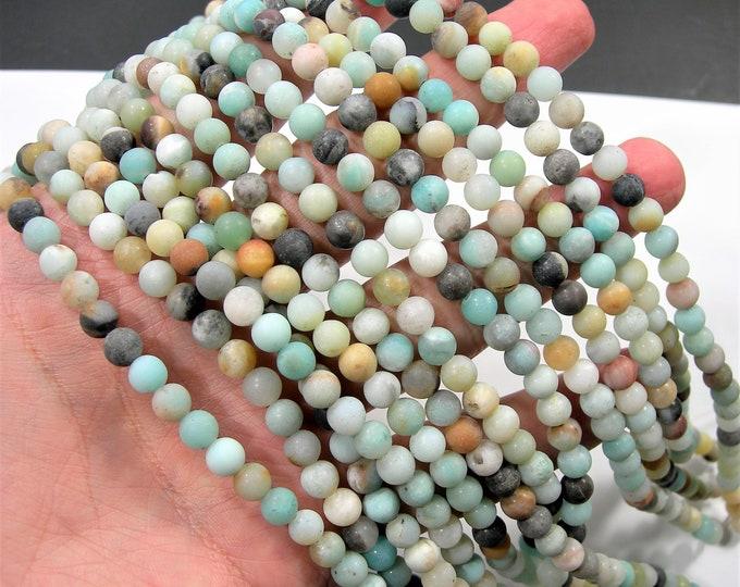 Amazonite 6mm round beads - full strand - matte -  65 beads - WHOLESALE DEAL - RFG510