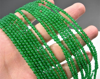 Jade  - 3mm round beads -  full strand - 126 beads - A quality - RFG1754
