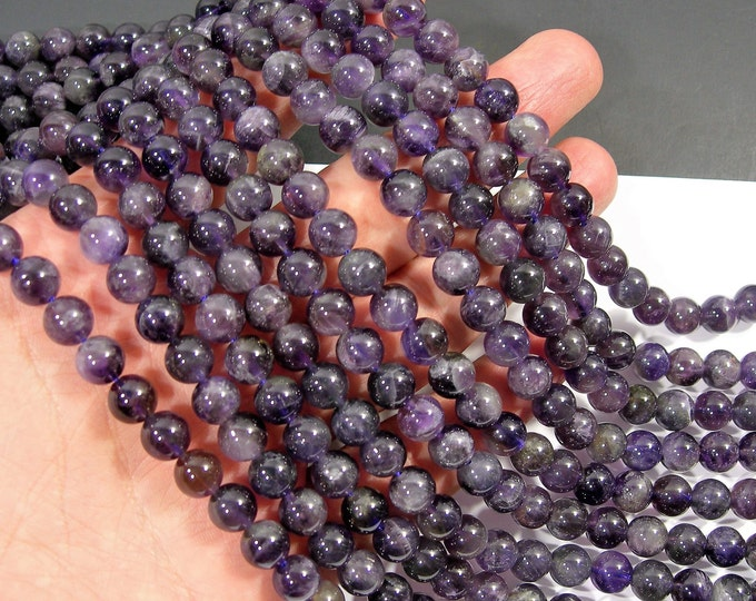 Amethyst - 8 mm round -  full strand - 50 beads -Economical grade - RFG559
