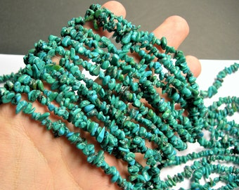 Genuine turquoise - chip stone - bead - 36 inch full strand - Tibet turquoise - PSC40