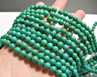 Howlite turquoise -  8mm beads - full strand -  50 pcs - AA quality -  RFG1090