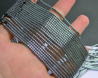 Hematite silver - 2mm heishi  beads - 1 full strand - 195 beads - AA quality - PHG198