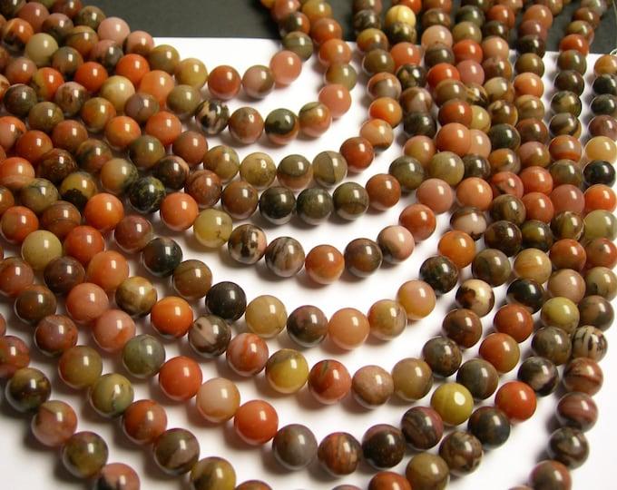 Orange river Jasper - 8mm round beads - full strand - A quality - 48 beads - RFG33