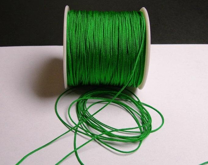 Nylon Cord - knotting/beading cord - 1mm - 70 meter - 230 foot - Green - N15