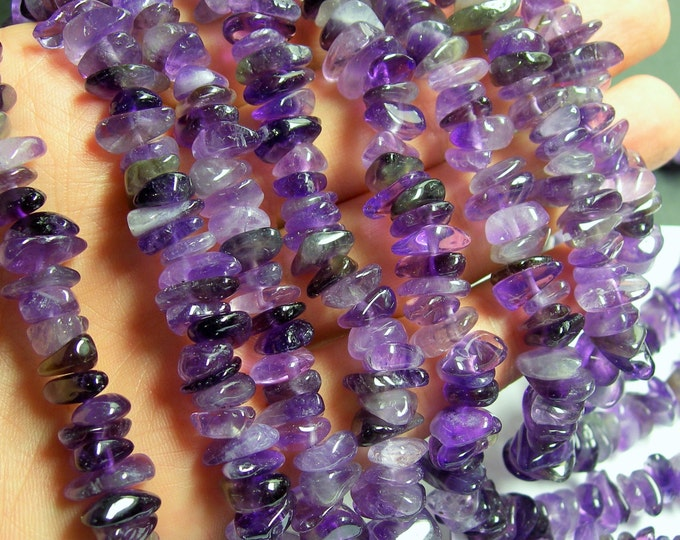 Amethyst chips stone beads - 16 inch - A quality  - 10mm chip - PSC150