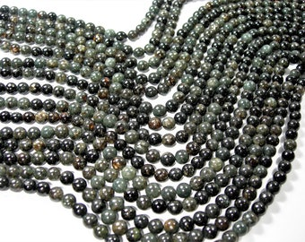 Astrophyllite -  6 mm round - A quality - 68 beads per strand -  1 full strand - very rare - RFG598