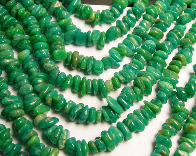 Russian amazonite - pebble - chip disc beads  - 16 inch - PSC57