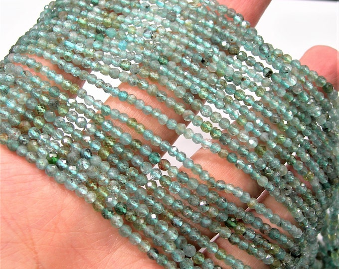 Apatite - 2.5mm micro faceted round beads - 151 beads - Full strand  - PG247