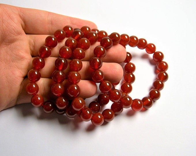 Carnelian - 10mm round beads - 19 beads - 1 set - A quality - HSG14