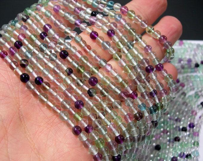 Fluorite - 4mm(3.6mm) round beads - 104 beads - Full strand - PG325