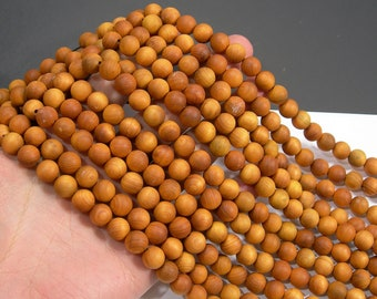 Cedar wood  - 10 mm round beads - full strand - 41 beads - Thuja Sutchuenensis - RFG1999
