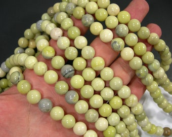 Butter Jade 10mm round beads - full strand - 39 beads per strand - A quality - RFG27
