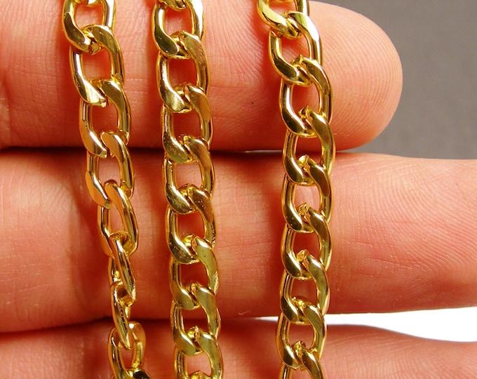 Gold chain - curb chain - 1 meter - 3.3 feet - aluminum chain - NTAC109