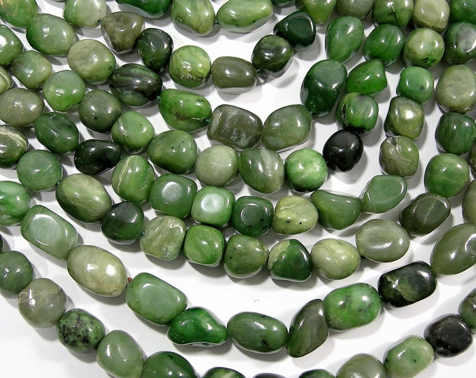 BC Jade gemstone - nugget - bead - 16 inch - full strand - Canada Jade - nephrite - RFG1817