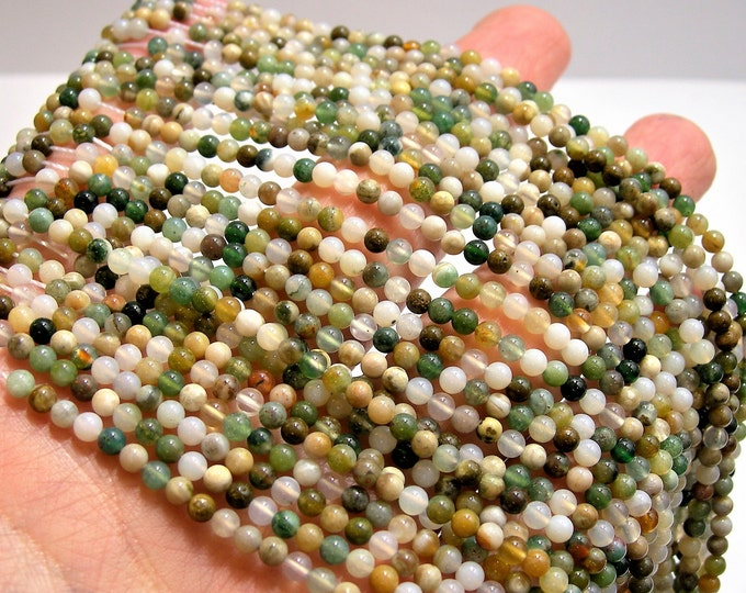 Ocean Jasper 3mm(3.2mm) round beads - 16 inch - 40 cm strand  -  123 beads - A Quality - PG116