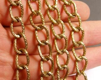 Bronze chain - lead free nickel free won't tarnish - 1 meter - 3.3 feet - aluminum chain - etching -  NTAC85