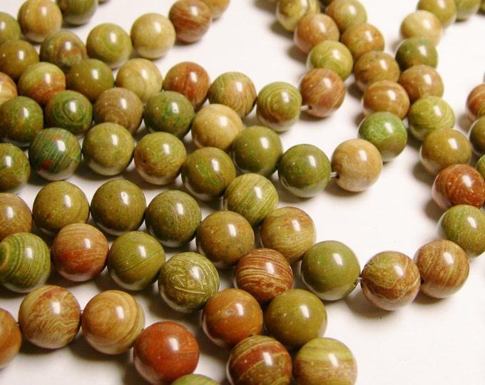 Colorful Jasper - 12 mm round beads -  full strand - 33 pcs - NRG154