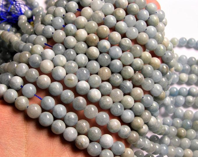 Aquamarine - 8mm round beads - Full strand - 48 beads - RFG1215