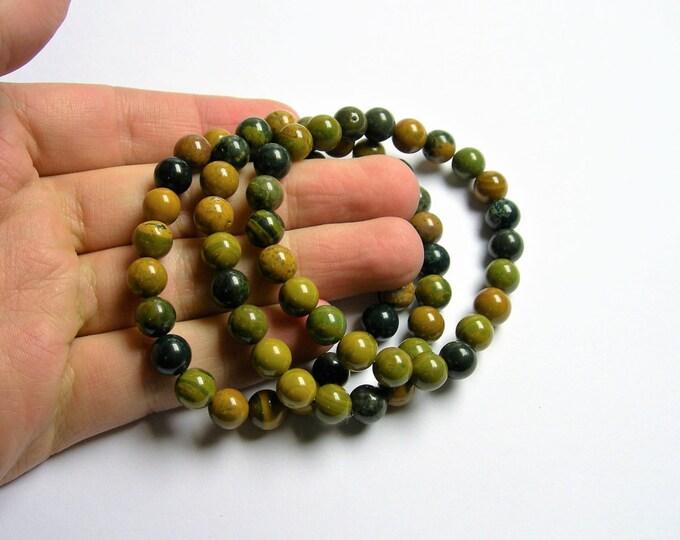Ocean Jasper - 8mm round beads - 23 beads - 1 set - A quality - HSG39