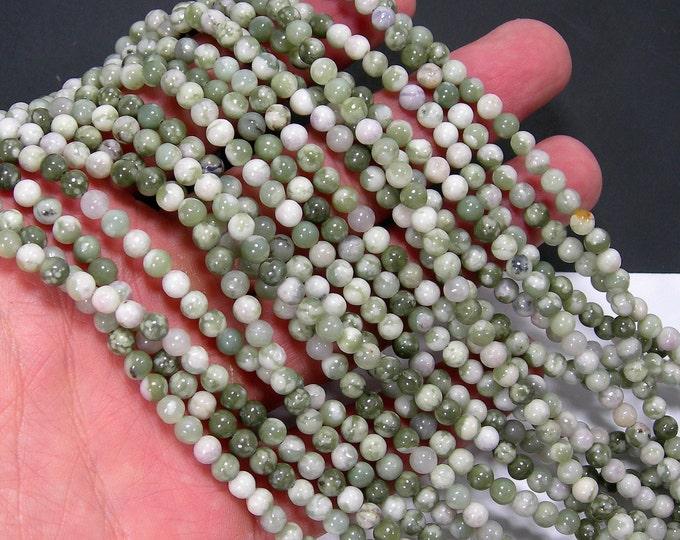 Peace Jade - 4mm(4.4mm) round beads - 89 beads per strand - Lucky jade - harmony jade - RFG2102A
