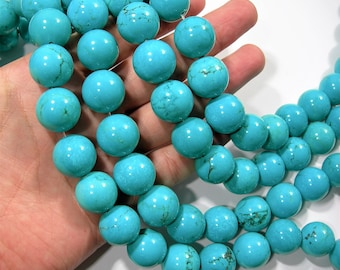 Howlite turquoise - 18mm round beads - full strand - 22 beads -  A Quality - RFG1733