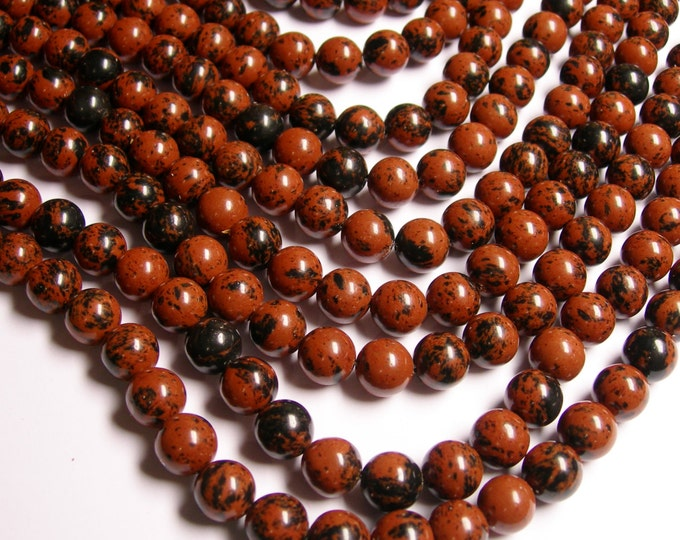 Mahogany Obsidian 10 mm A quality - 39 beads per strand - full strand - RFG1144
