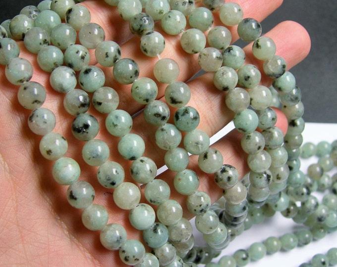Lotus Jasper - 8 mm round   beads -1 full strand -48 beads - sesame jasper - RFG495