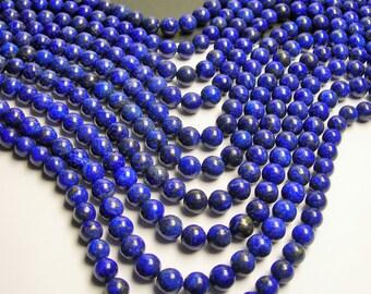 Lapis lazuli - 10mm round - 1 full strand - 38 beads - RFG82