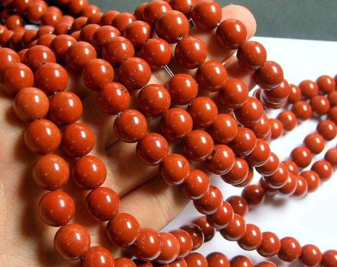 Red Jasper - 12 mm round beads -1 full strand - 33 beads - RFG562