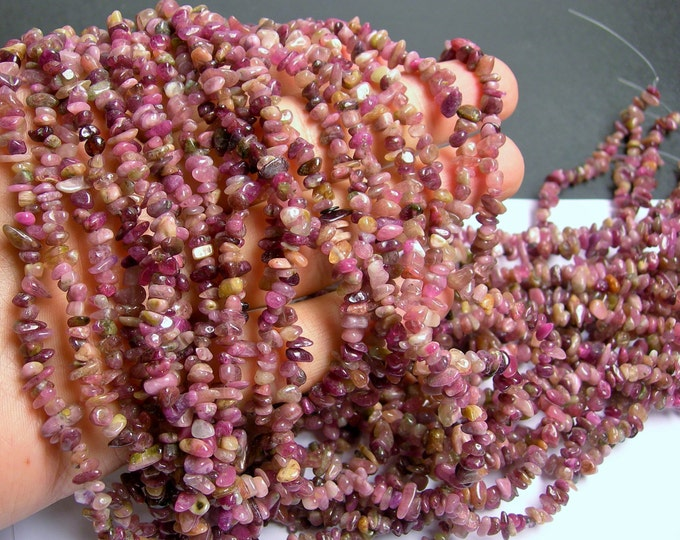 Tourmaline gemstone - chip stone - A quality - full strand - pink tone tourmaline - PSC8