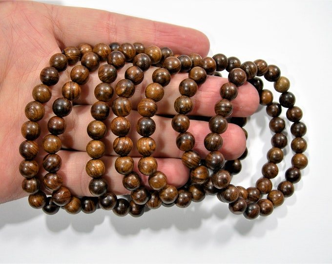 Sandalwood  -8mm(7.7mm) round beads - 23 beads - 1 set - A quality - HSG116