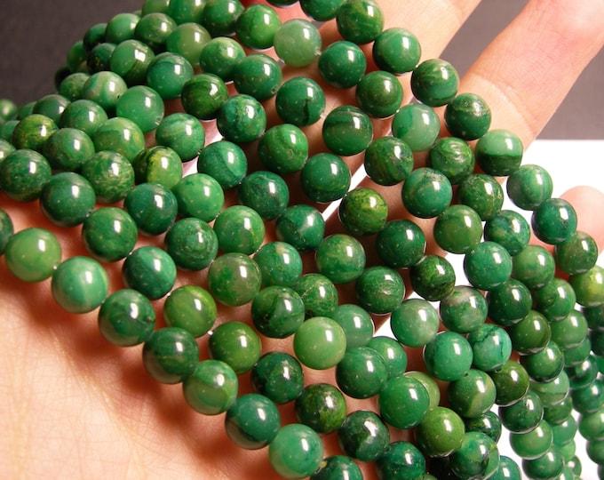 Verdite 8mm round - full strand - 50 beads -  A plus quality -  Verdite - RFG776
