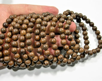 Phoebe Ebony - 8mm round beads - 23 beads - 1 set - A quality -  Phoebe zhennan wood - HSG123