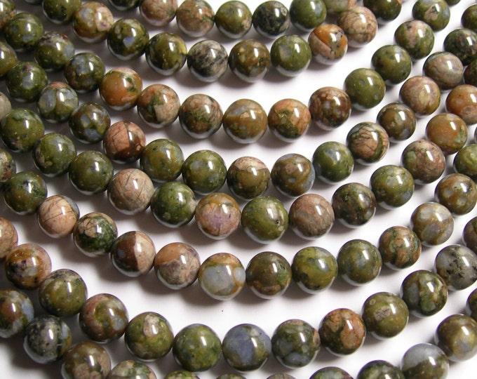 Rhyodacite - 10 mm round beads - full strand - 40 beads - AA quality - RFG524