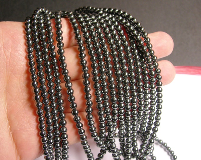 Hematite - 4 mm round beads - full strand - 100 beads - A quality - RFG825