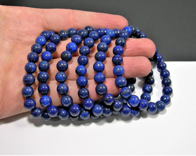 Lapis Lazuli  - 8mm round beads - 23 beads - 1 set - A quality  - HSG46
