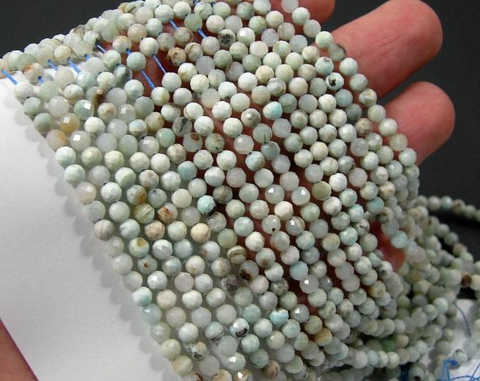 Hemimorphite - 4mm faceted round beads - full strand  101 beads - PG361