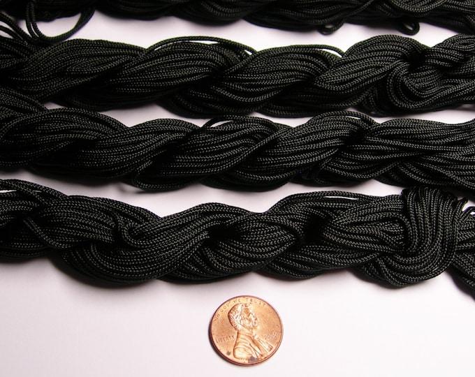 Knotting cord - nylon - beading cord - 60 meter - 196 foot - Black -1.5mm -  NBBC