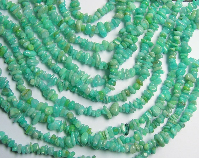 Amazonite - 36 inch full strand - pebble - chip stone  - PSC106