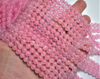 Rose quartz - 6mm round - full strand - 64 beads - WHOLESALE DEAL - RFG482