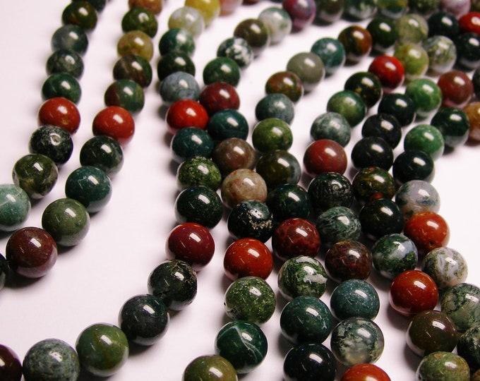Indian agate 10mm - full strand - 40 beads per strand - RFG955