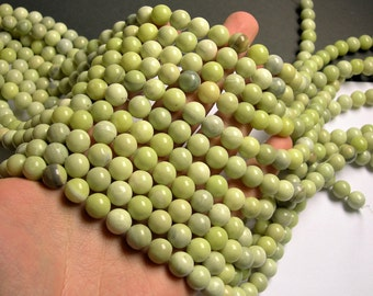 Butter Jade 10mm round beads - full strand - 39 beads per strand - AA quality - RFG27